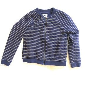 Gymboree Navy with gold stripes jacket
